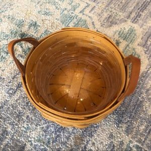 Longaberger button basket 🧺 and protector